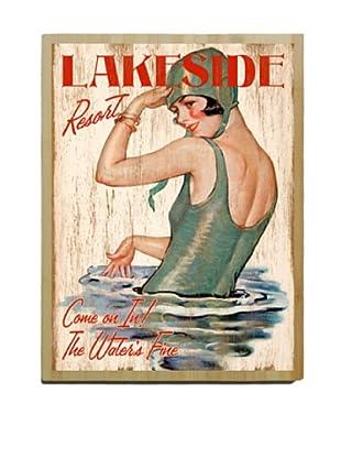 Artehouse Lakeside Resort Bamboo Wood Sign