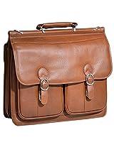 McKleinUSA HAZEL CREST 15604 Brown Leather Double Compartment Laptop Case