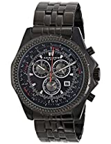 "Akribos XXIV Men's AK517BLK ""Ultimate"" Stainless Steel Watch"