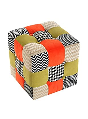 Mimma Pouf Hounds Patchwork