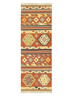 Hand Woven Izmir Wool Kilim, Dark Copper, 2' 4