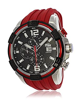 Pit Lane Uhr mit Miyota Uhrwerk Pl-1008-5 rot 50 mm