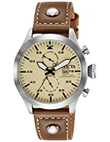 Invicta Analog Beige Dial Men's Watch - 18501