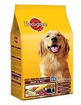 Pedigree Adult Dog Food Meat & Rice - 1.2 Kg