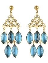 Zariin Drop Earrings for Women (Blue) (EPS077BLcubic zircon)