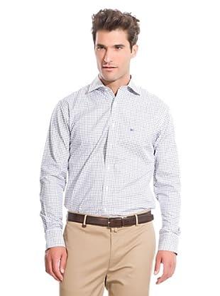 Pedro Del Hierro Camicia No Iron (Bianco/Blu)