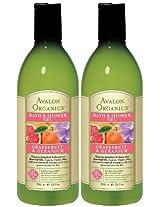 Avalon Organics Bath and Shower Gel Refreshing Grapefruit and Geranium -- 12 fl oz