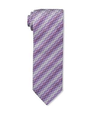 Missoni Men's Small Zigzag Tie, Purple