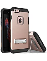iPhone 6S Case, OBLIQ [Skyline Advance][Rose Gold] with Metal Kickstand Thin Dual Layered Metallic Heavy Duty Hard Protection Hybrid High Quality Case for iPhone 6S (2015) & iPhone 6 (2014)