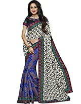 Sapphire Fashions Women's Black Silk Sari