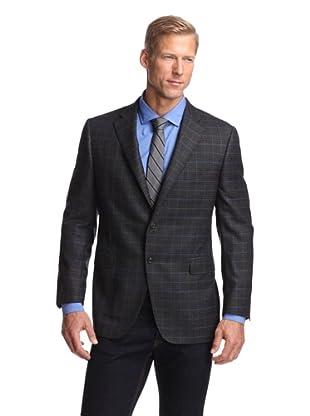 Samuelsohn Men's Sport Coat (Grey Plaid)