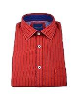 Linen Club Formal Shirt Red