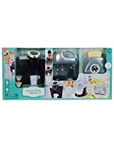 Play Go Pretend Play Gourmet Kitchen Appliance Set Single Serve Coffee Maker, Mixer & Toaster, 3 Piece