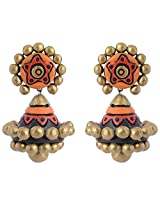 Scorched Earth Ishi Orange Terracotta Jhumki Earrings for Women