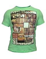 Status Quo Round Neck Sap Green Tees