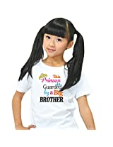 Kids t shirt, Giftsmate Princess Guarded by Big Brother Kids Girl 100% Cotton T-shirt for Sister