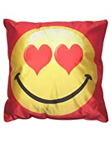 Twisha Smile With Heart Pillow 12 X 12 X 4 Inch