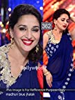 New Navyblue Designer Partywear Bollywood Replica Net & Georgette Saree Sari Madhuri Dixit Jhalak Dikhhla Jaa