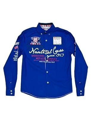 Geographical Norway Camisa Manga Larga Zautical (Azul Royal)