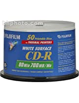 Fujifilm Cd-R Recordable White Thermal Printable Data Disc