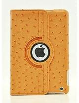 LiViTech(TM) Ostrich Design Series 360 Rotating PU Leather Case Smart Cover for Apple iPad Mini (Orange)