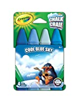 Crayola Build Your Box Cool Blue Sky Chalk (4 Count)