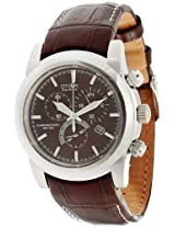 Citizen Eco-Drive Analog Brown Dial Men's Watch - AT0555-18X