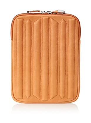 Allibelle Women's Trapunto Striped iPad Case (Papaya)