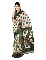 Parichay Women's Silk Saree(Green)