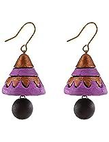 Avarna Terracotta Jhumki Hanging Earrings Jha0001 For Women (Purple )