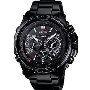 Men Casio EQWT720DC-1A Edifice Black Label Black Stainless Steel Edifice Black L