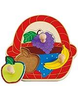 Hape - Fruit Basket Knob Puzzle