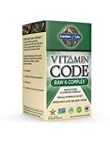 Garden of Life Vitamin Code Raw K-Complex, 60 Capsules