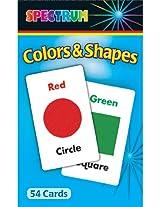 Carson Dellosa CD-734002 Spectrum Flash Cards Colors Shapes