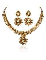 Appealing Gold plated kundan set