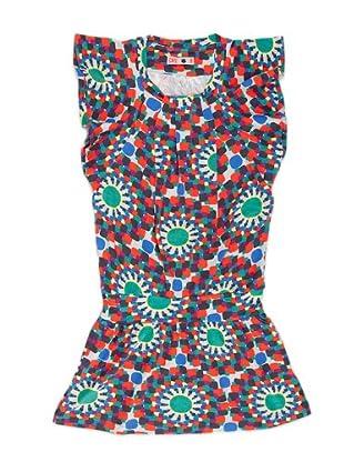 Naf Naf Chevignon Vestido Piegues (Multicolor)