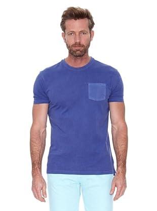 Cortefiel Camiseta Básica Tintada (Azul Oscuro)