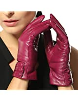 Bestselling Womens Touchscreen Texting Driving Winter Warm Nappa Leather Gloves (Fleece or Cashmere Lining) (Violet,6.5)