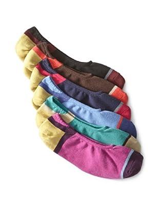 Florsheim by Duckie Brown Men's Colorblock No-Show Socks (6 Pairs) (Multi)