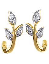 AG AG - AGSE0047 Six Stone Leaf Shape Fashion Earrings