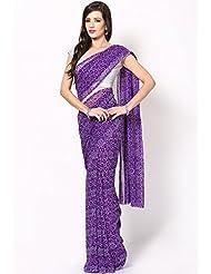 Rajasthani Sarees Ethnicwear Georgette Bandhej Print Saree For Women (RS11)