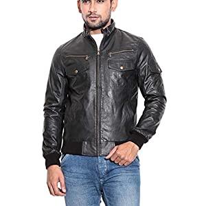 Black Mens Leather Jacket