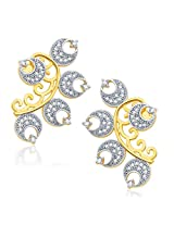 Sukkhi Ornate Gold And Rhodium Plated CZ Earcuff For Women