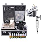1 Stainless Steel Machine Complete Tattoo Kit - 10 Coil Mustang