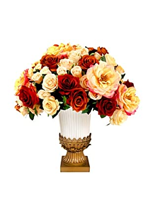 Creative Displays Rust, Red, & Cream Rose Floral in Vase, 23x23x27