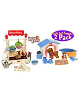 Fisher Price Loving Family Garden Fun & Puppy Playtime Gift Set Bundle 2 Pack