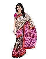 Janasya women's multi colour Fabric-Pure Cotton printed saree