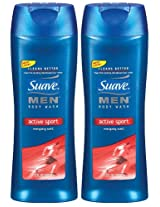 Suave Body Wash, Active Sport, 12 oz, 2 pk
