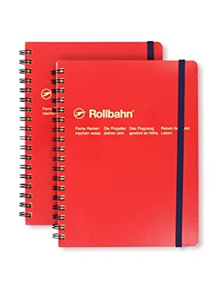 Sweet Bella Set of 2 Rollbahn Spiral Notebooks (Red)