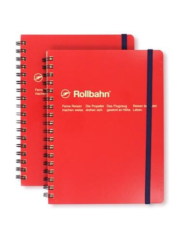Sweet Bella Set of 2 Rollbahn Spiral Notebooks (Red)